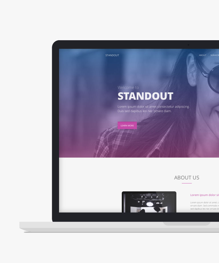 Standout Free responsive HTML5 Bootstrap Landing page template