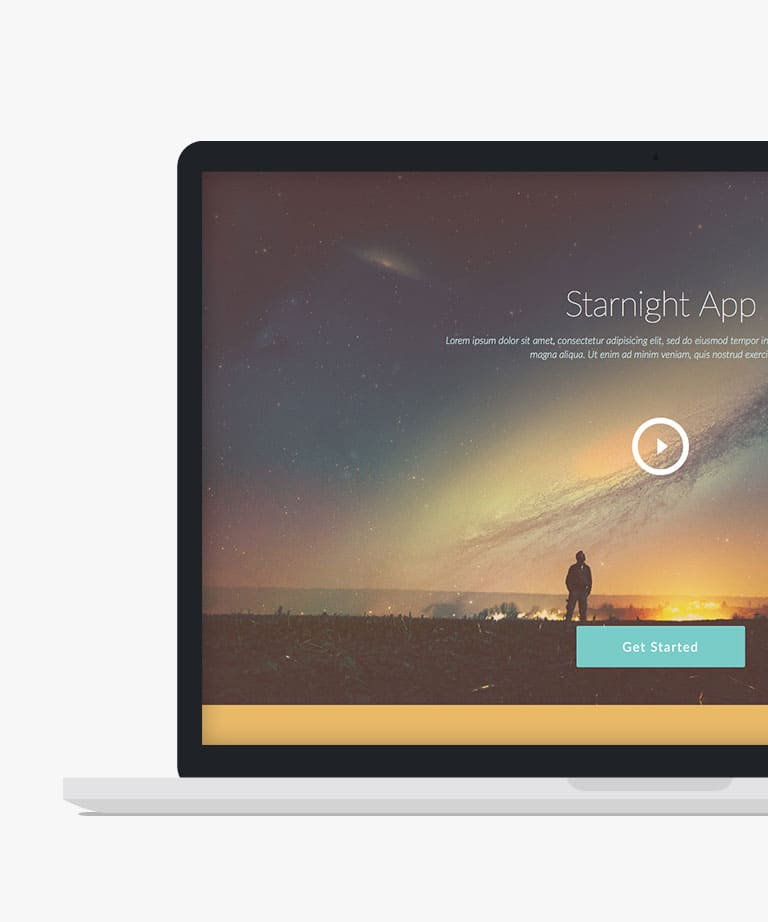 Starnight Free responsive HTML5 Bootstrap template