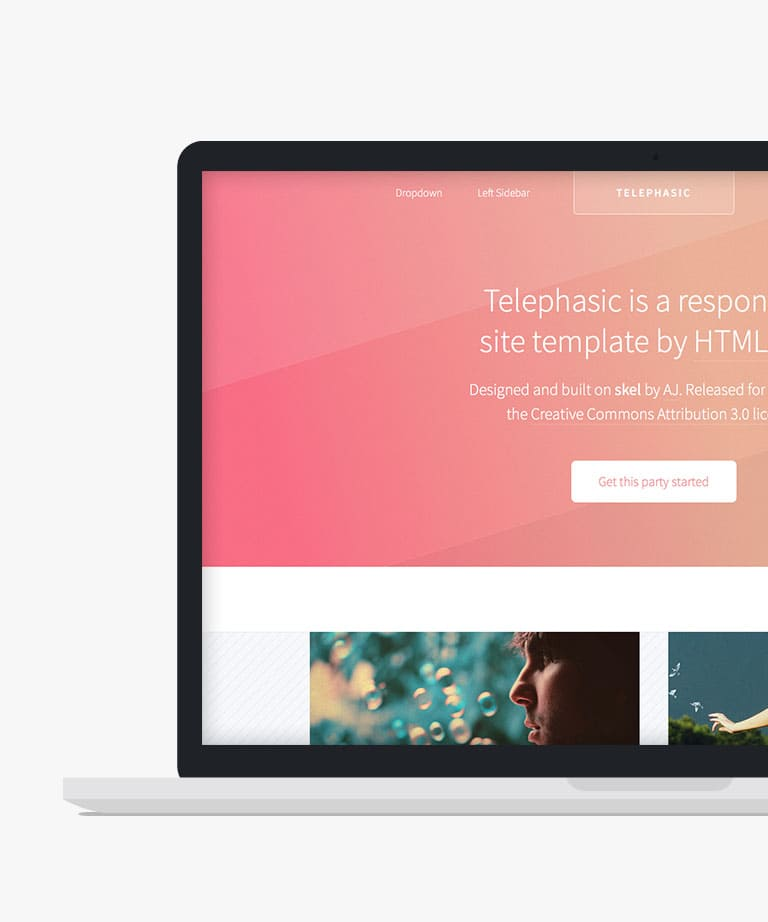 Telephasic Free responsive HTML5 template