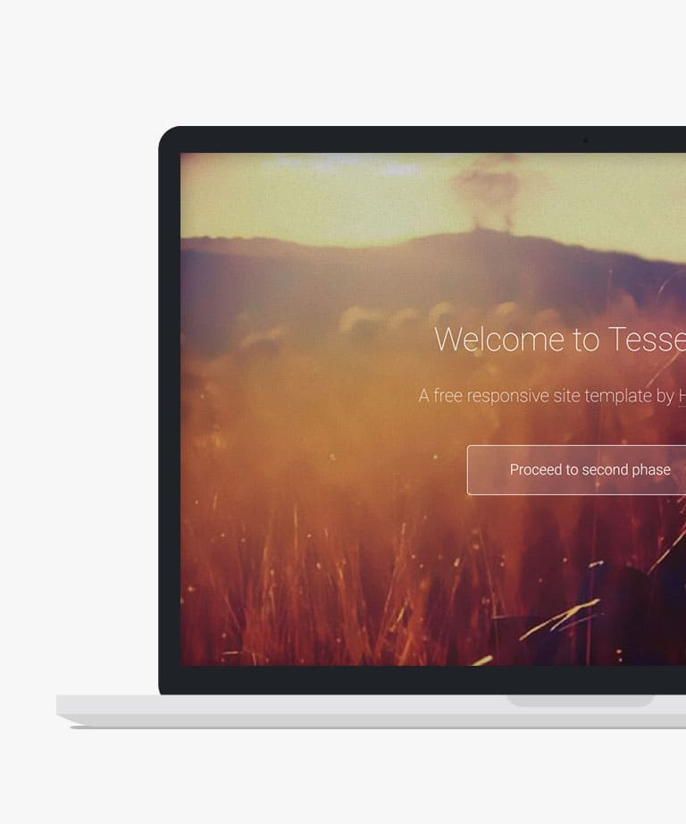 Tessellate Free responsive HTML5 Personal template
