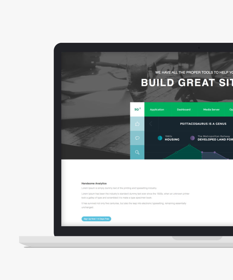 Theme 13 Free responsive HTML5 Bootstrap Landing page template