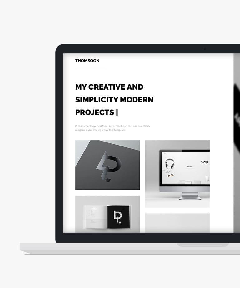 Thomsoon portfolio Free responsive HTML5 template
