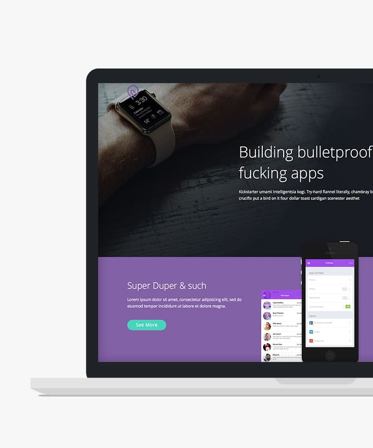 Tork Free responsive HTML5 Bootstrap App template