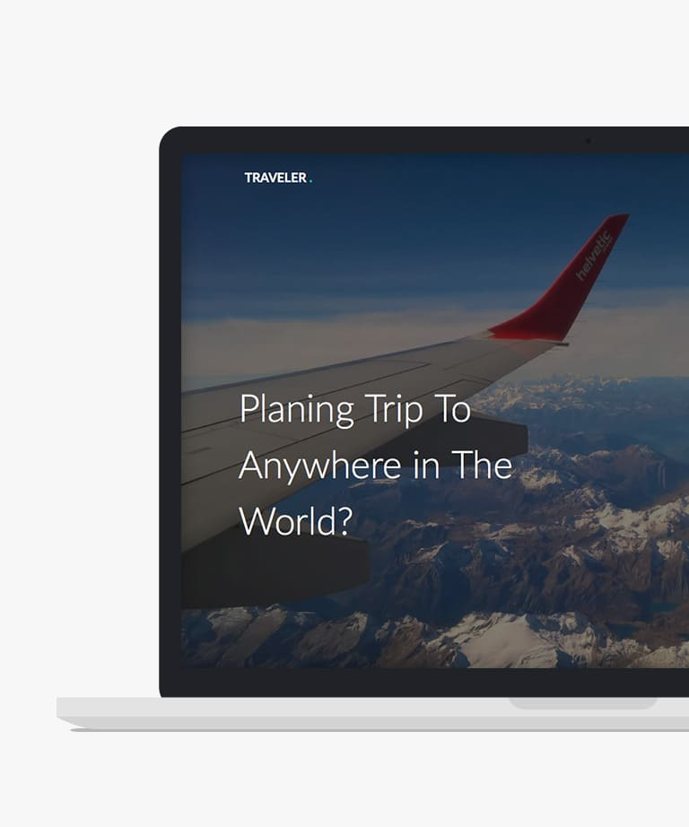 Traveler Free responsive HTML5 Bootstrap Travel template