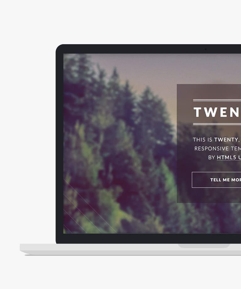 Twenty Free responsive HTML5 multipurpose template