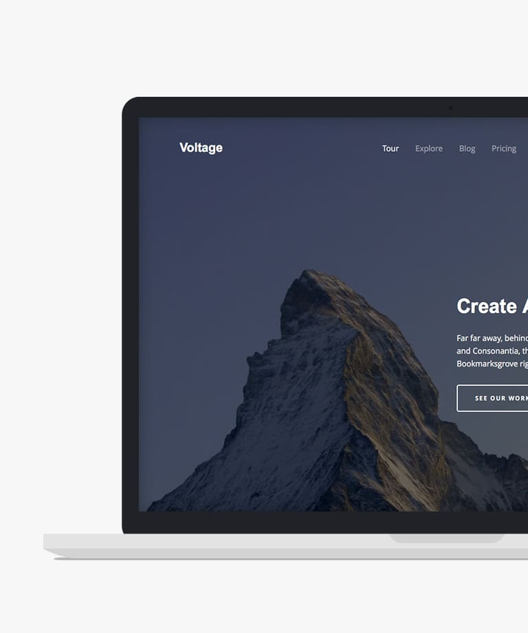 Voltage Free responsive HTML5 Bootstrap Business template