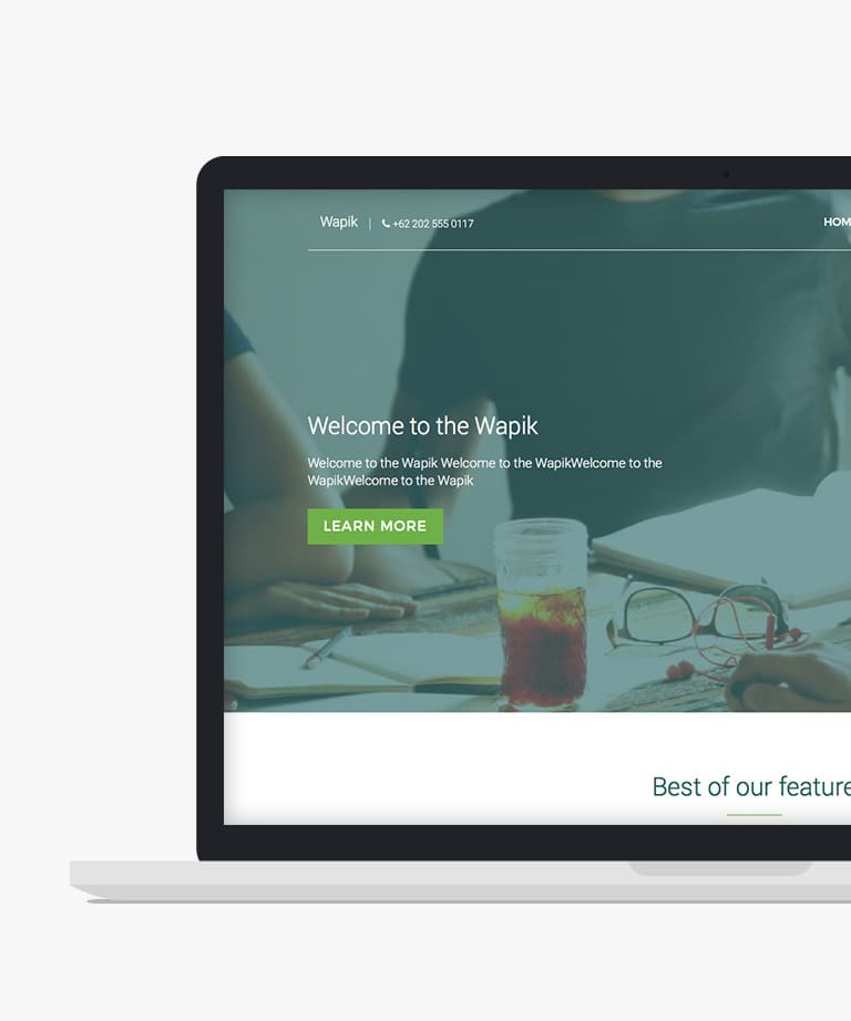 Wapik Free responsive HTML5 Bootstrap Business template