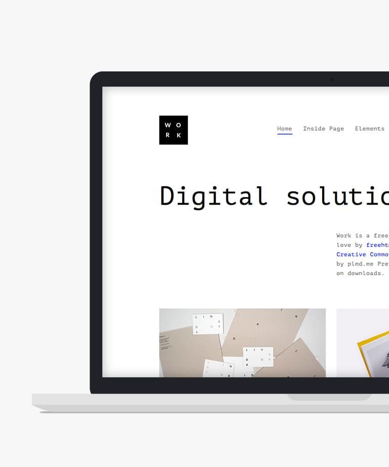 Work Free responsive HTML5 Bootstrap Portfolio template