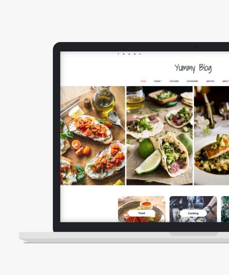 Yummy Free responsive HTML5 Bootstrap Blog template