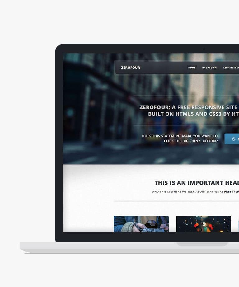 Zerofour Free responsive HTML5 template