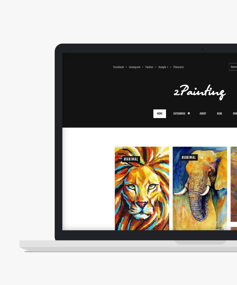 zPainting Free responsive HTML5 Portfolio template